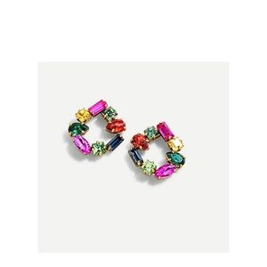 J. Crew | crystal open circle earrings